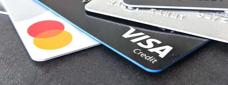 Kreditkarten Visa und Mastercard