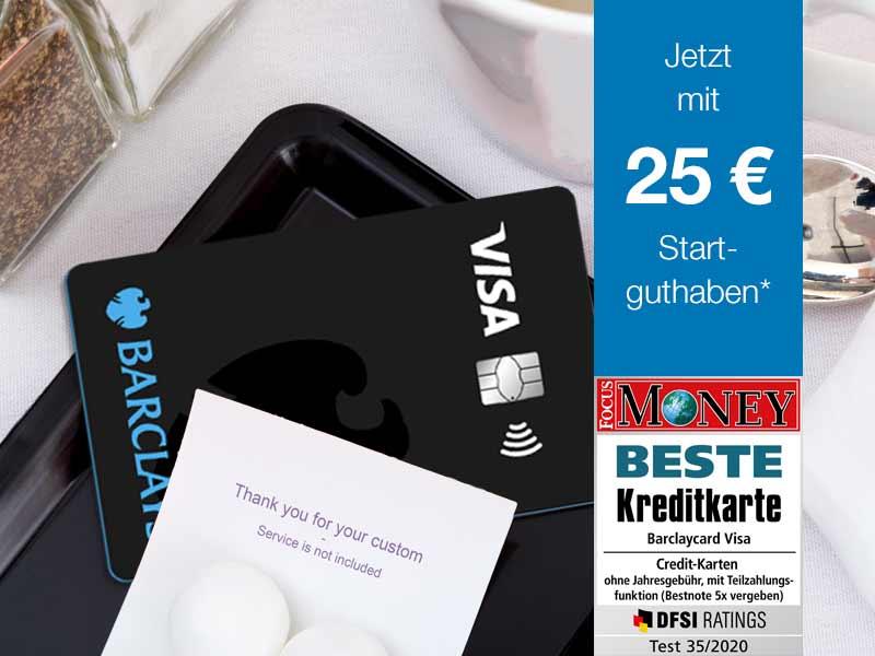 Barclays Visa im Restaurant